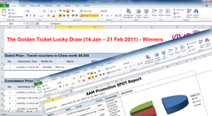 Charts and Reports in Excel | Selects winners using lucky draw program